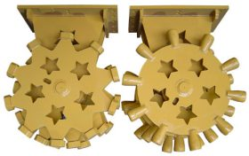 23 in COMPACTION WHEEL FOR RUBBER TIRE BACKHOE/MINI EXCAVATOR-SUI-SL24CW