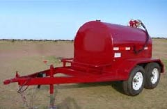 1000 Gallon Easy Pump Fuel Tank Trailer HUL 1000