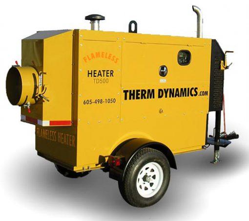 Flameless Sparkless Diesel Heater 625K BTU Towable TD600