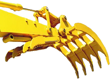Excavator Rake for Machines 30,000 to 40,000 lbs. - SLS-SGR-2