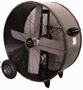 "Portable Galvanized Belt Drive Heavy Duty Industrial Fan; 42"" - PHP-PT42BDF"