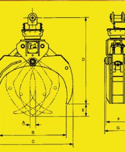 Rotating Heavy Duty Log Grapple 2.7 sq ft  ROTO4042HD
