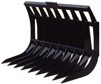 "Rake for Skid Steer Loaders Width: 66"" Height 43"" Depth 36""- SLS-SSR-166"