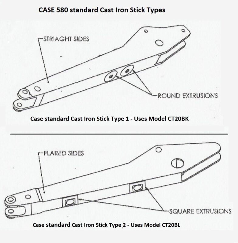 Thumbs for Case 580K, 580SK, 580L, 580SL, 580M, 580SM w Cast-Iron