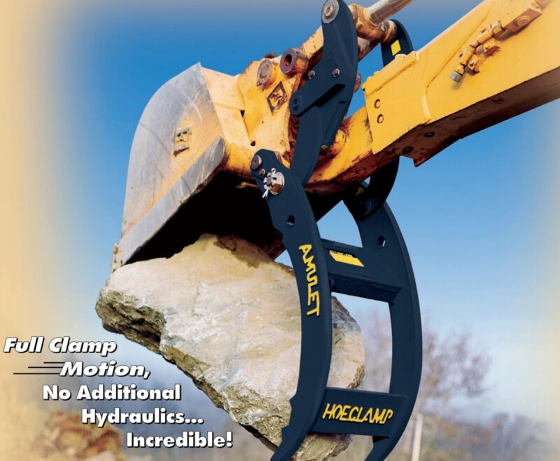 Amulet Hoeclamp for Case 580B, C, D and E Backhoes - standard & extendable