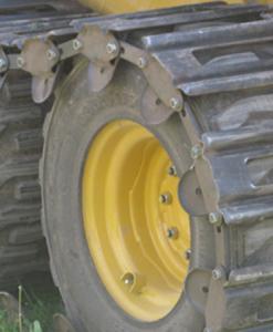 TracksPlus over-tire Steel Tracks for Skid Steer 10″ Tires