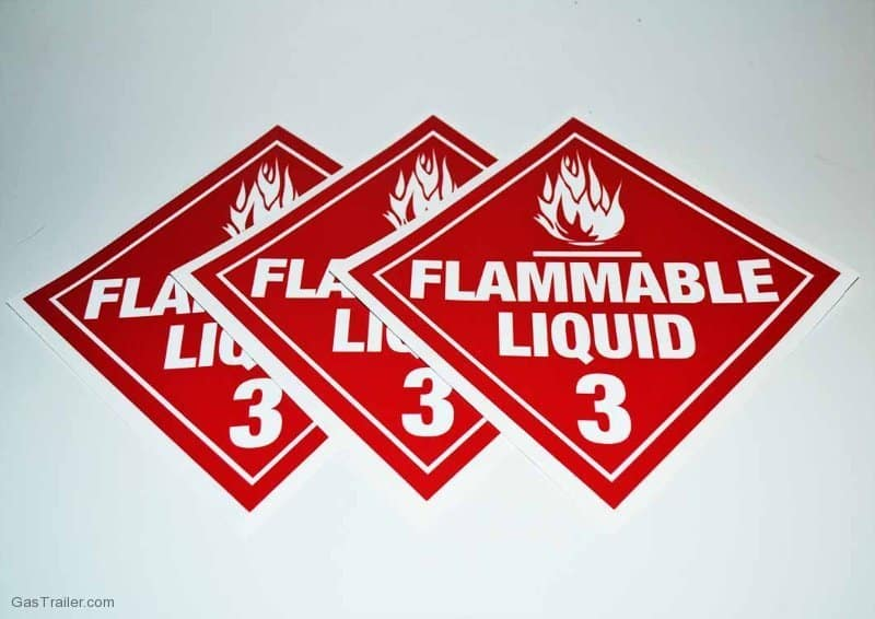 Flammable Liquid Decals